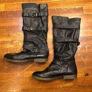 STEVE MADDEN Soft Black Genuine Leather Boots